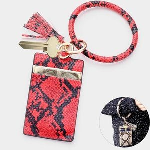 Accessories - Snake Faux Leather Key Chain